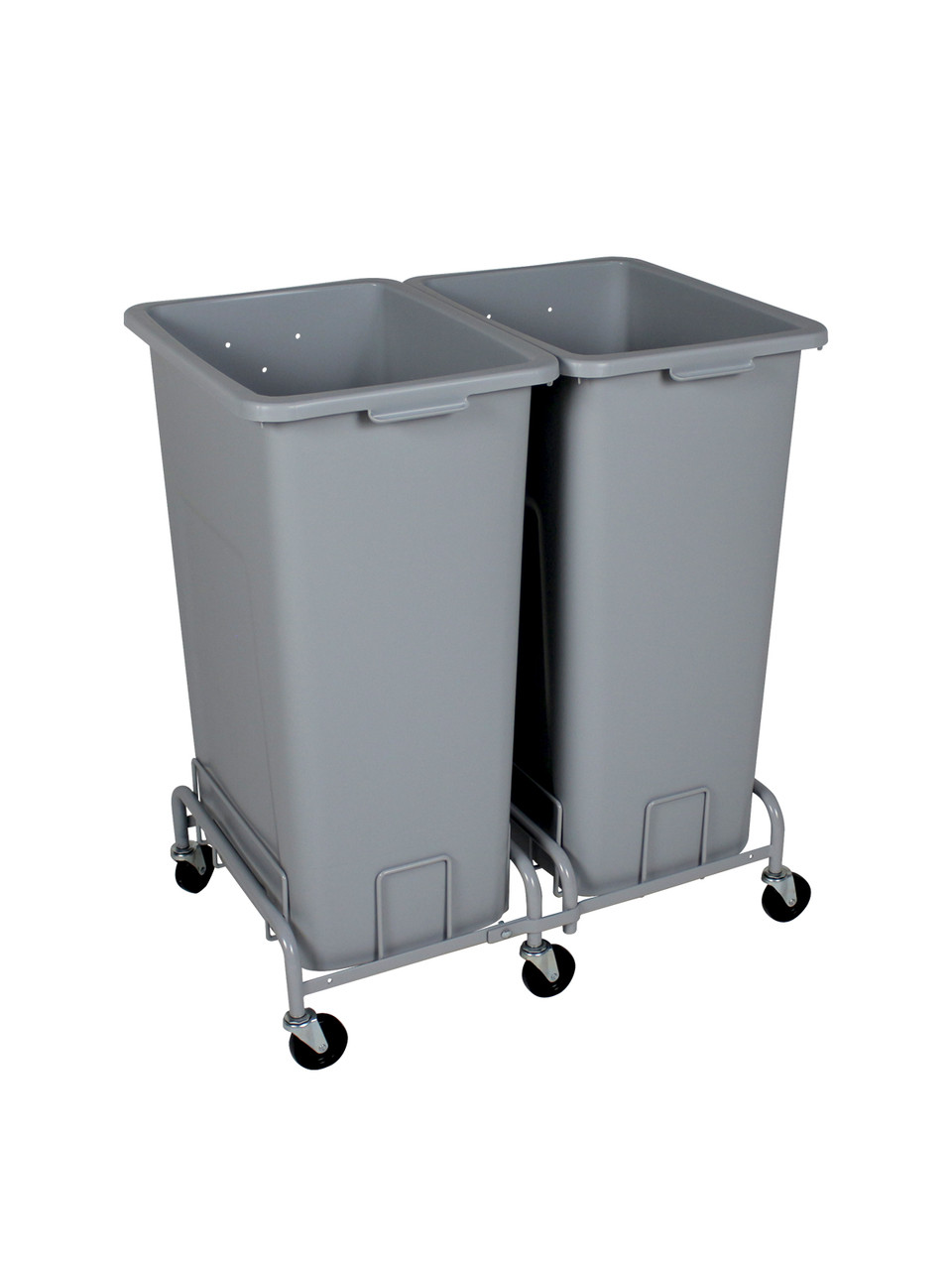 48 Gallon Plastic Extra Large Trash Cans with Wheels Combo (4 Color Choices)