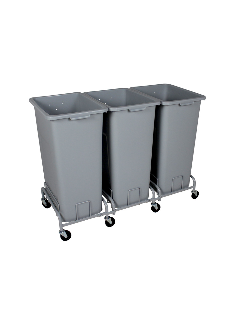 72 Gallon Plastic XL Trash Cans with Wheels Combo (4 Color Choices)
