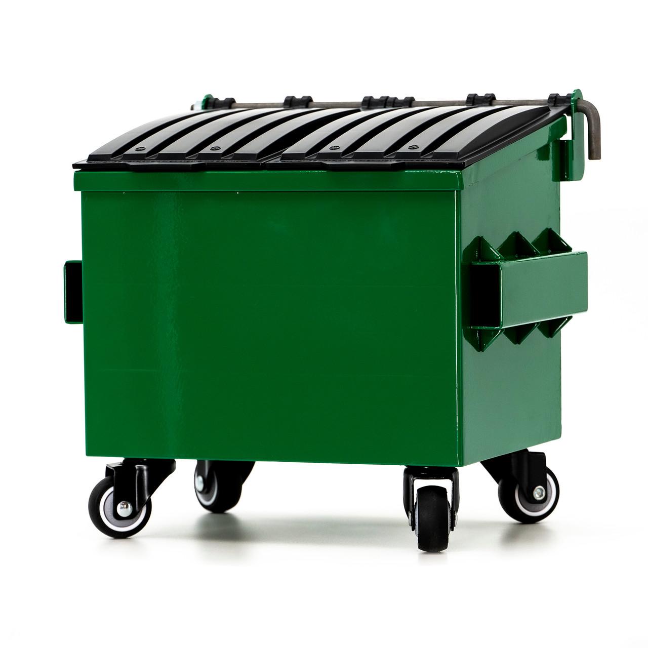 Dumpsty Desk Top Steel Mini Dumpster RECYCLE GREEN