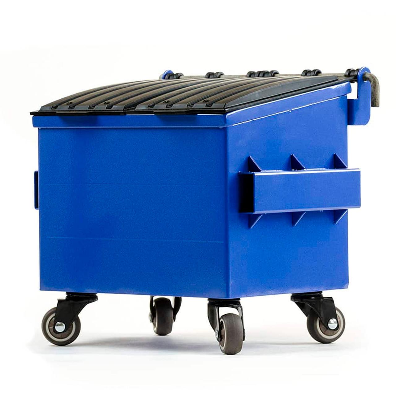 Dumpsty Desk Top Steel Mini Dumpster RECYCLE BLUE