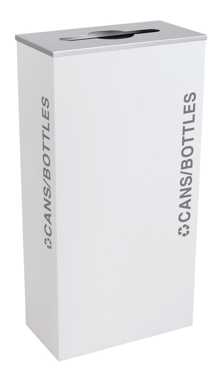 17 Gallon Kaleidoscope XL Black Tie Recycle Bin RC-KD17-C-BT-WHT (White, Cans/Bottles)