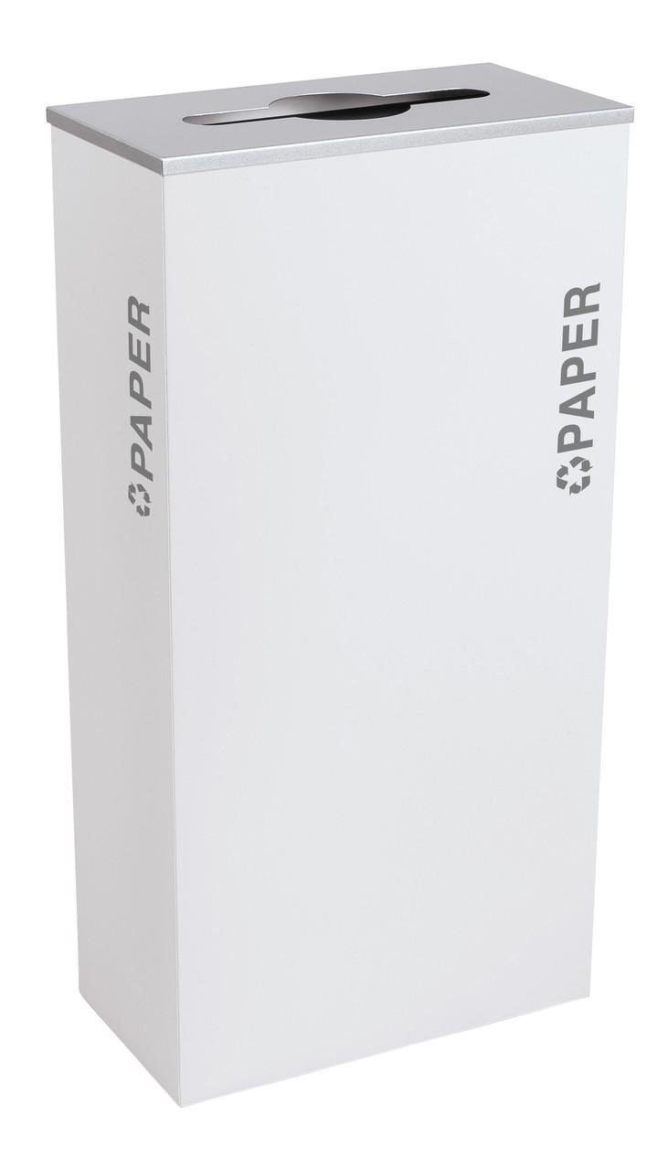17 Gallon Kaleidoscope XL Black Tie Recycle Bin RC-KD17-P-BT-WHT (White, Paper)