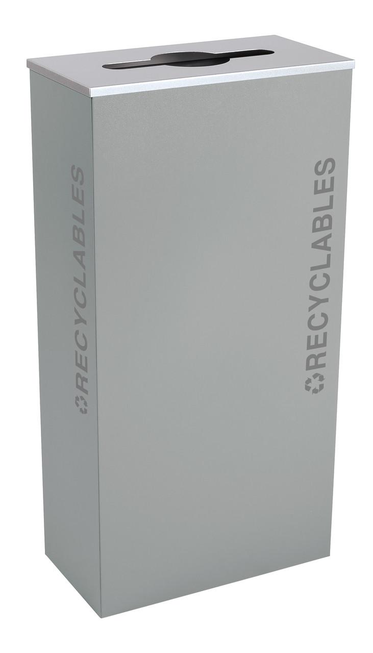17 Gallon Kaleidoscope XL Black Tie Recycle Bin RC-KD17-R-BT-HMG (Gray, Recyclables)