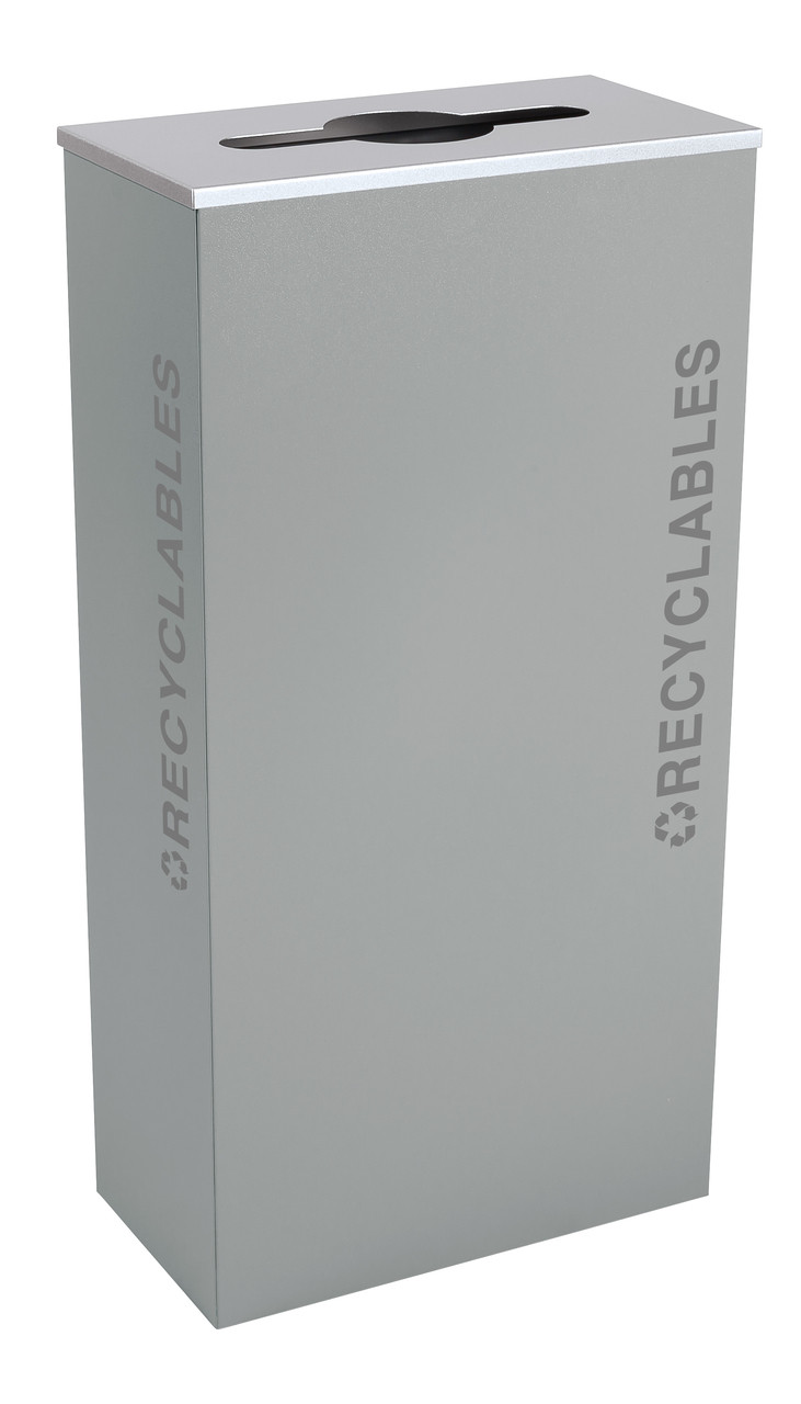 17 Gallon Kaleidoscope XL Black Tie Recycle Bin RC-KD17-R-BT-HMG (Gray, Recyclables)