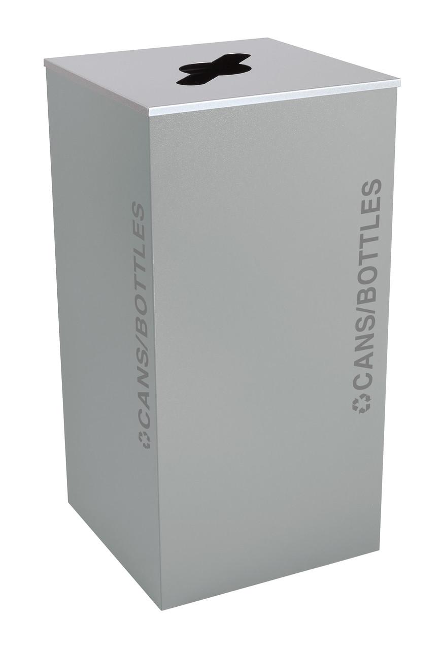 36 Gallon Kaleidoscope XL Black Tie Recycle Bin RC-KD36-C-BT-HMG (Gray, Cans/Bottles)