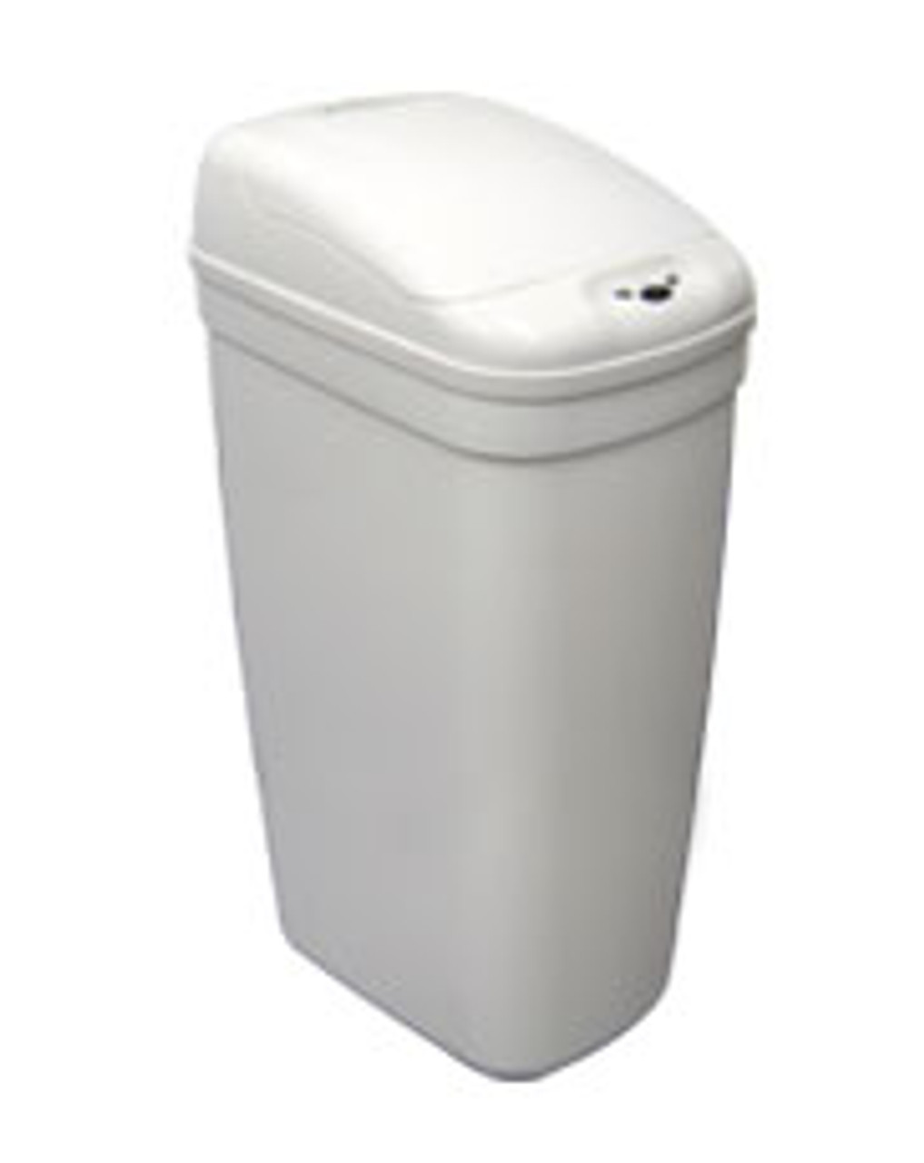 5 Gallon Touchless Automatic Plastic Nine Stars Trash Can White