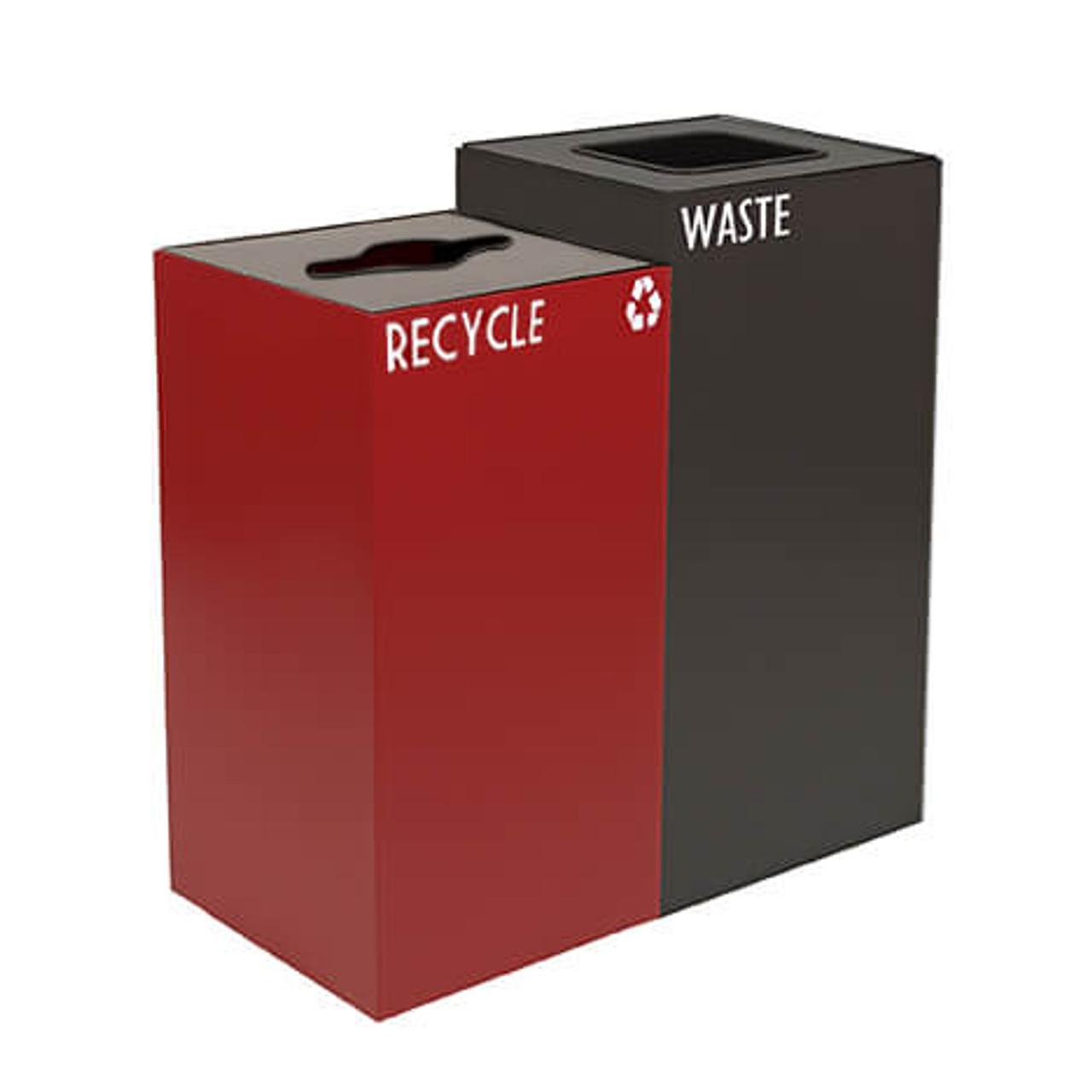 68 Gallon Geocube Double 32GC04-36GC03 Combo Recycling Bin (5 Color Choices)