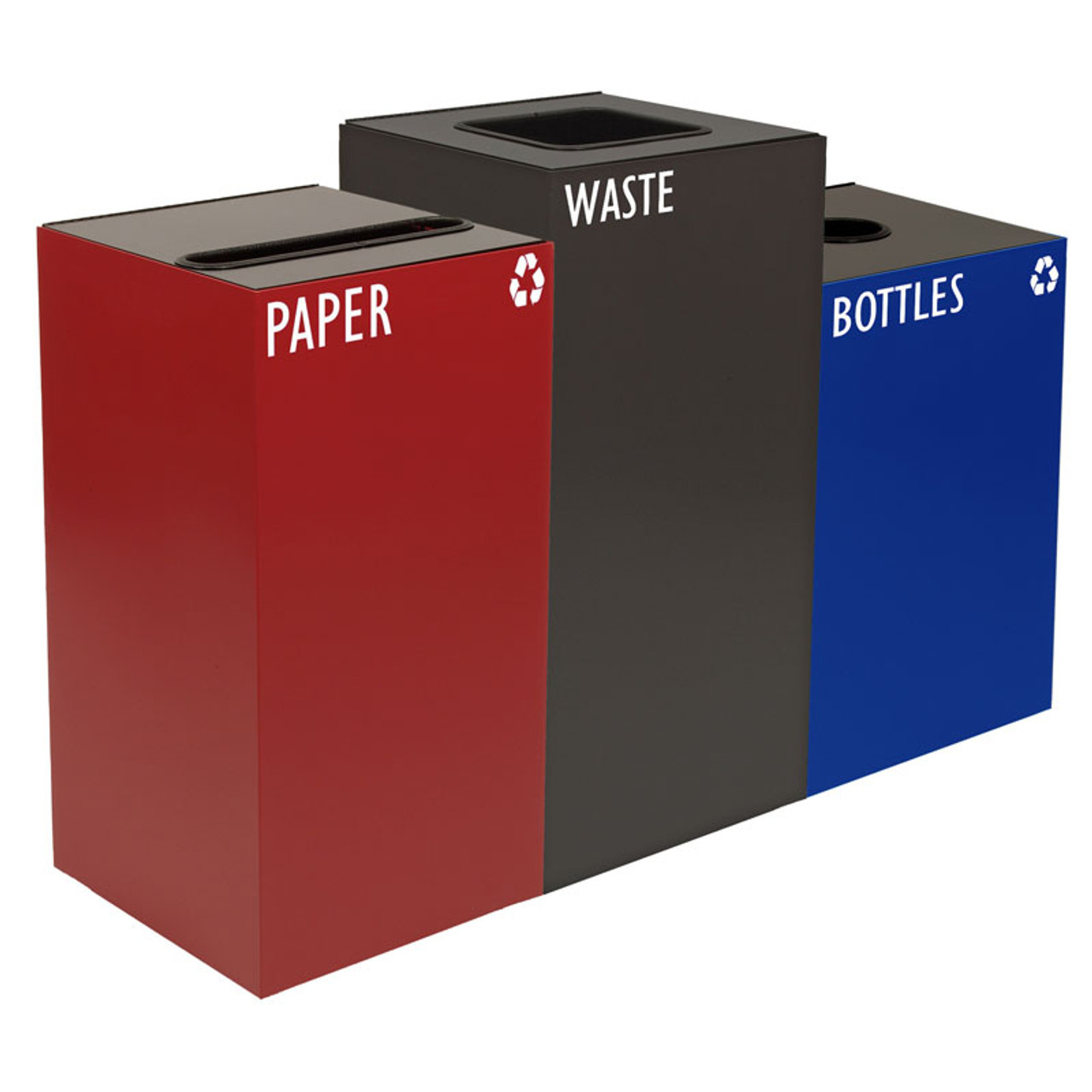 Geocube Triple Combination Recycling Center (4 Sizes & 5 Color Choices)