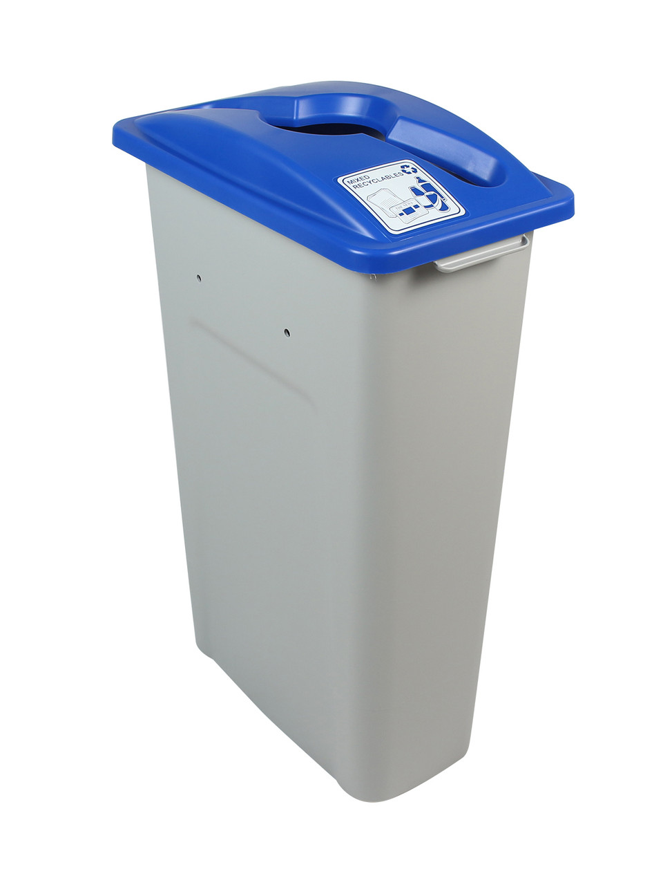 23 Gallon Skinny Simple Sort Recycle Bin (Mixed Recyclables)