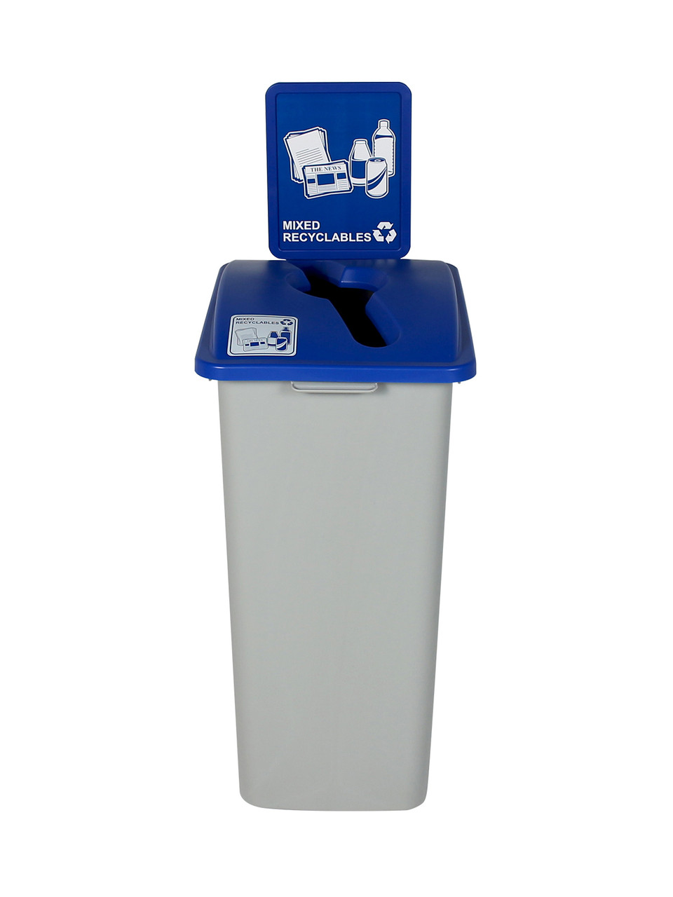 32 Gallon XL Recycling Bin with Sign (Mixed Recyclables)