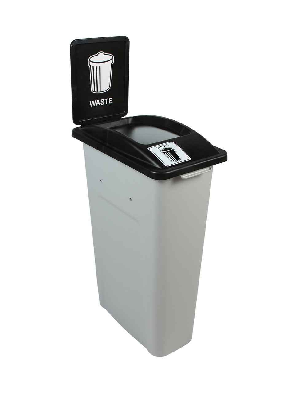 23 Gallon Skinny Simple Sort Waste Can with Sign (Waste, Open Top)