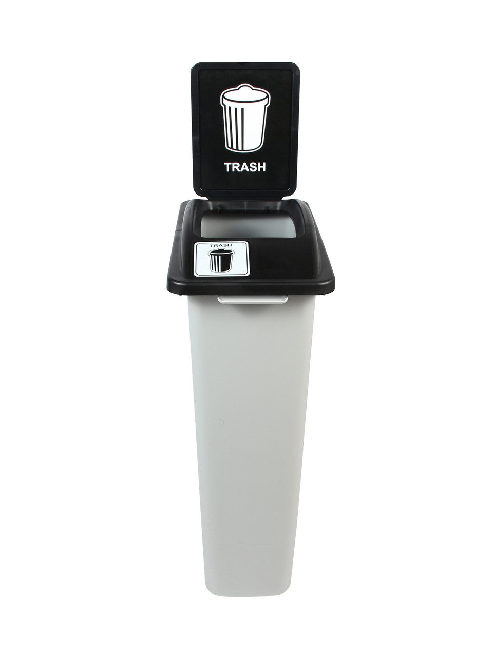 23 Gallon Skinny Simple Sort Trash Can with Sign
