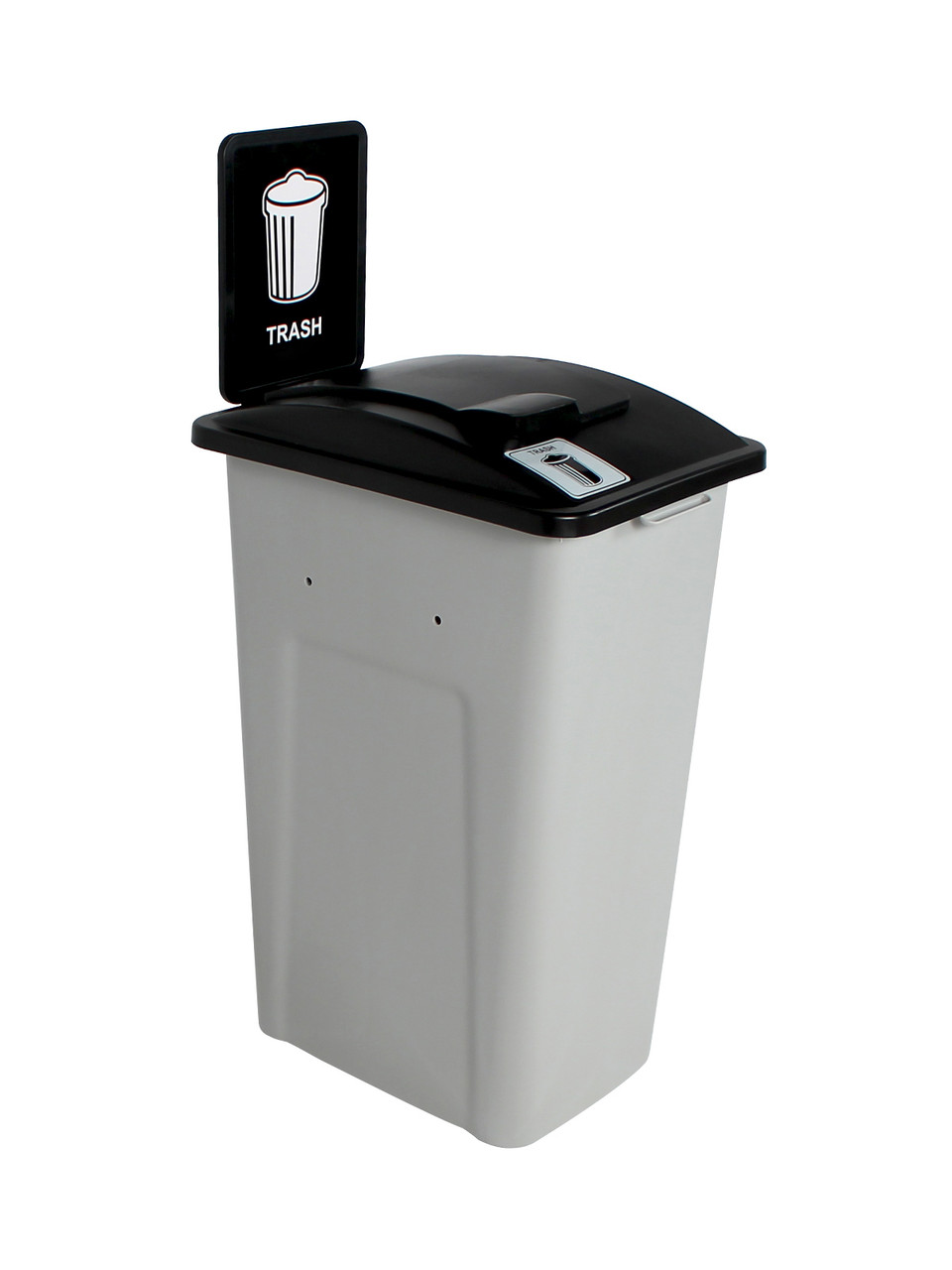 32 Gallon XL Simple Sort Trash Can with Sign (Trash, Lift Top)