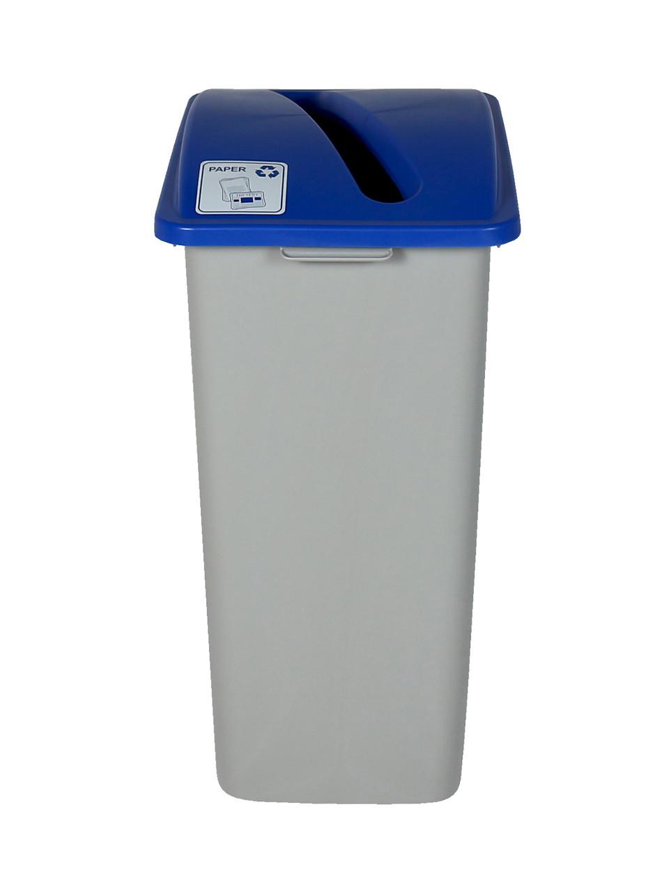 32 Gallon XL Simple Sort Recycling Bin Blue Lid