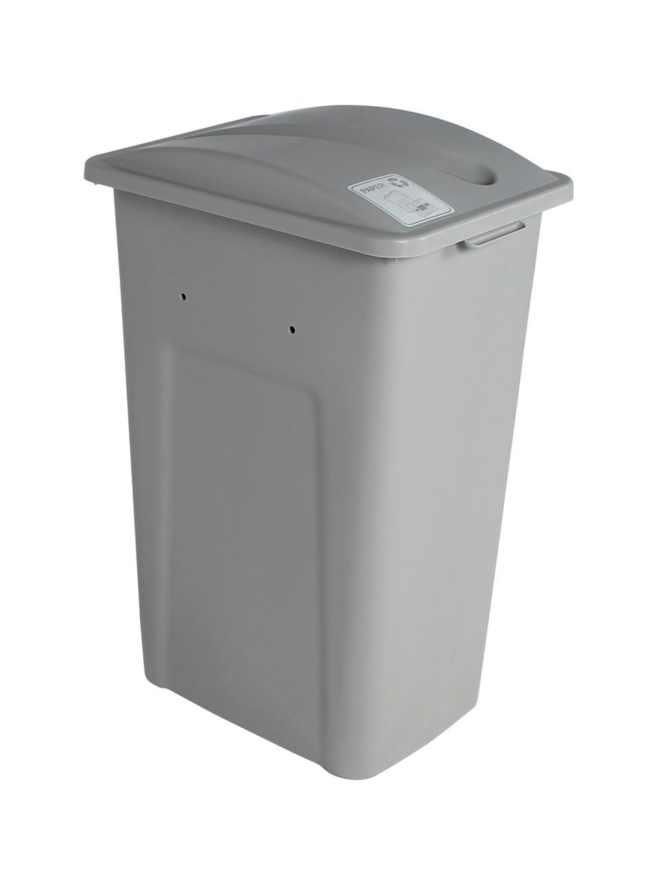 32 Gallon XL Simple Sort Recycling Bin (Paper, Gray Lid)