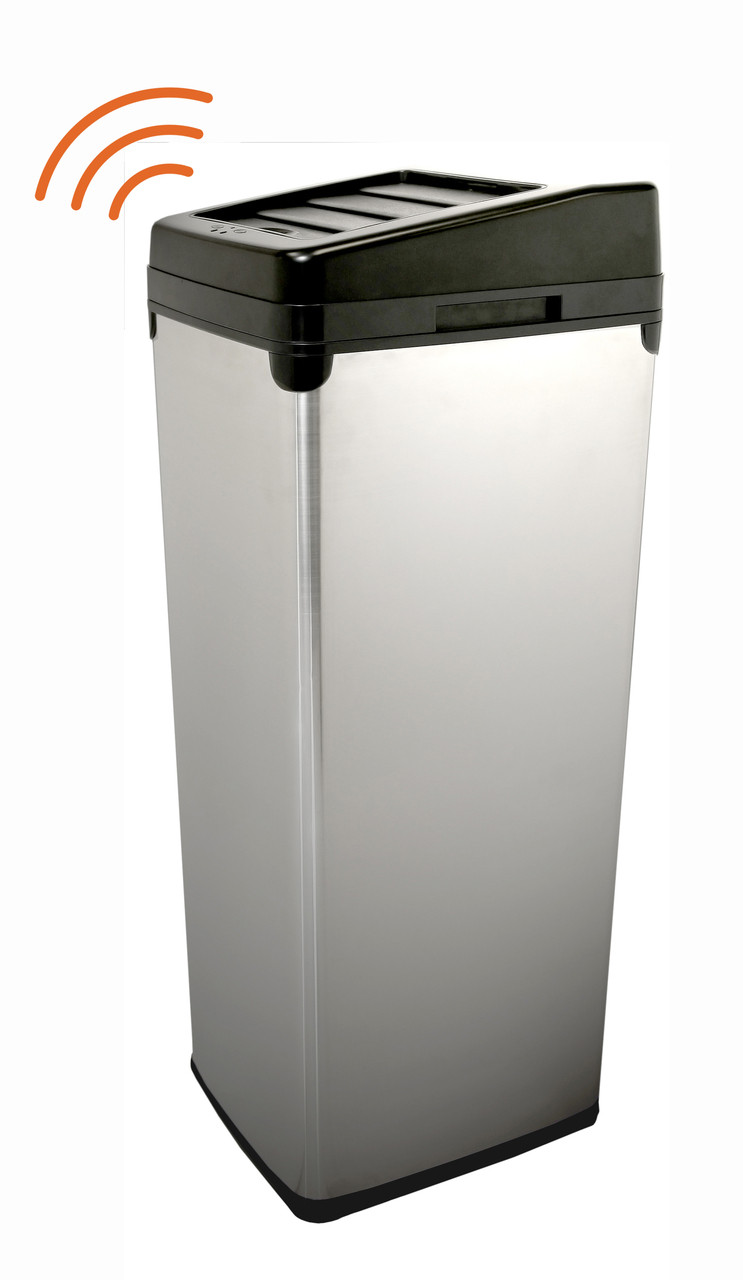 14 Gallon iTouchless Trash Can Stainless Steel SX IT14SC