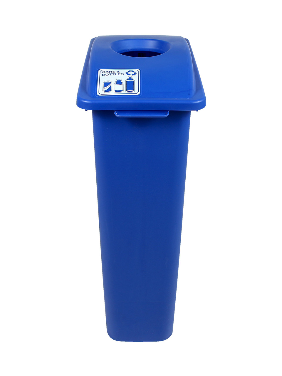 23 Gallon Blue Skinny Simple Sort Recycle Bin