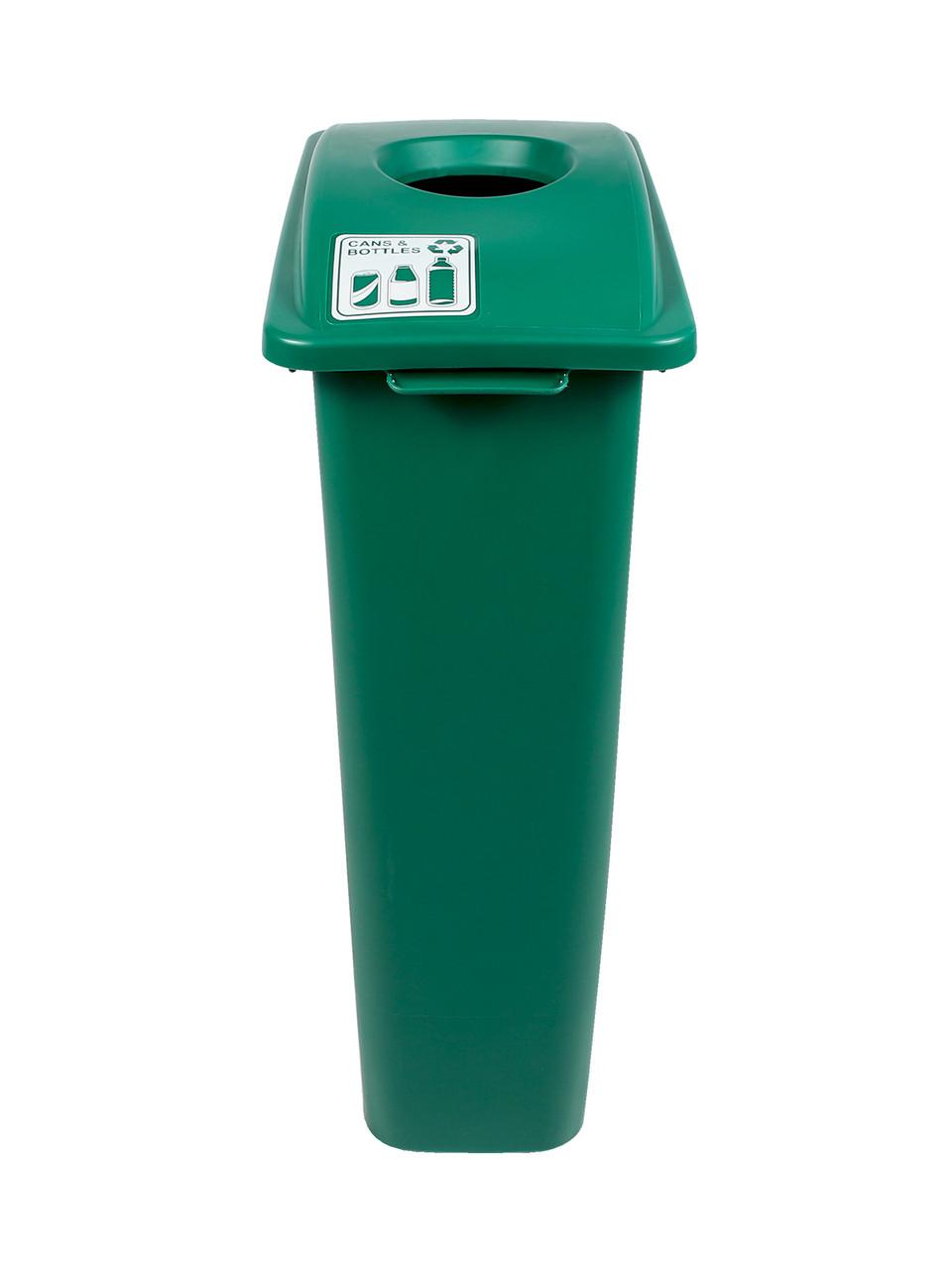 23 Gallon Green Skinny Simple Sort Recycle Bin