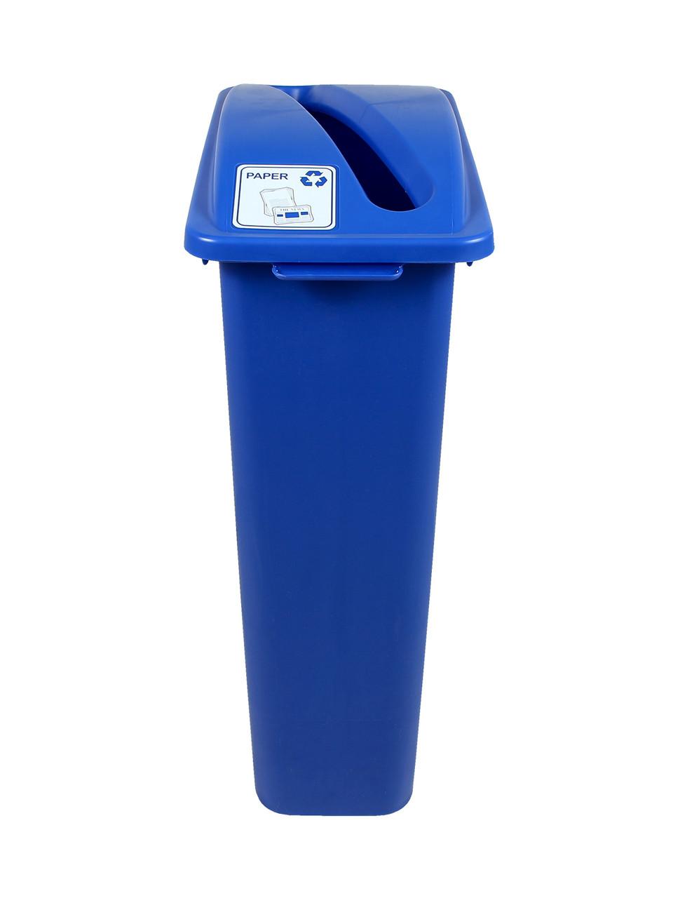 23 Gallon Blue Skinny Recycle Bin (Paper)