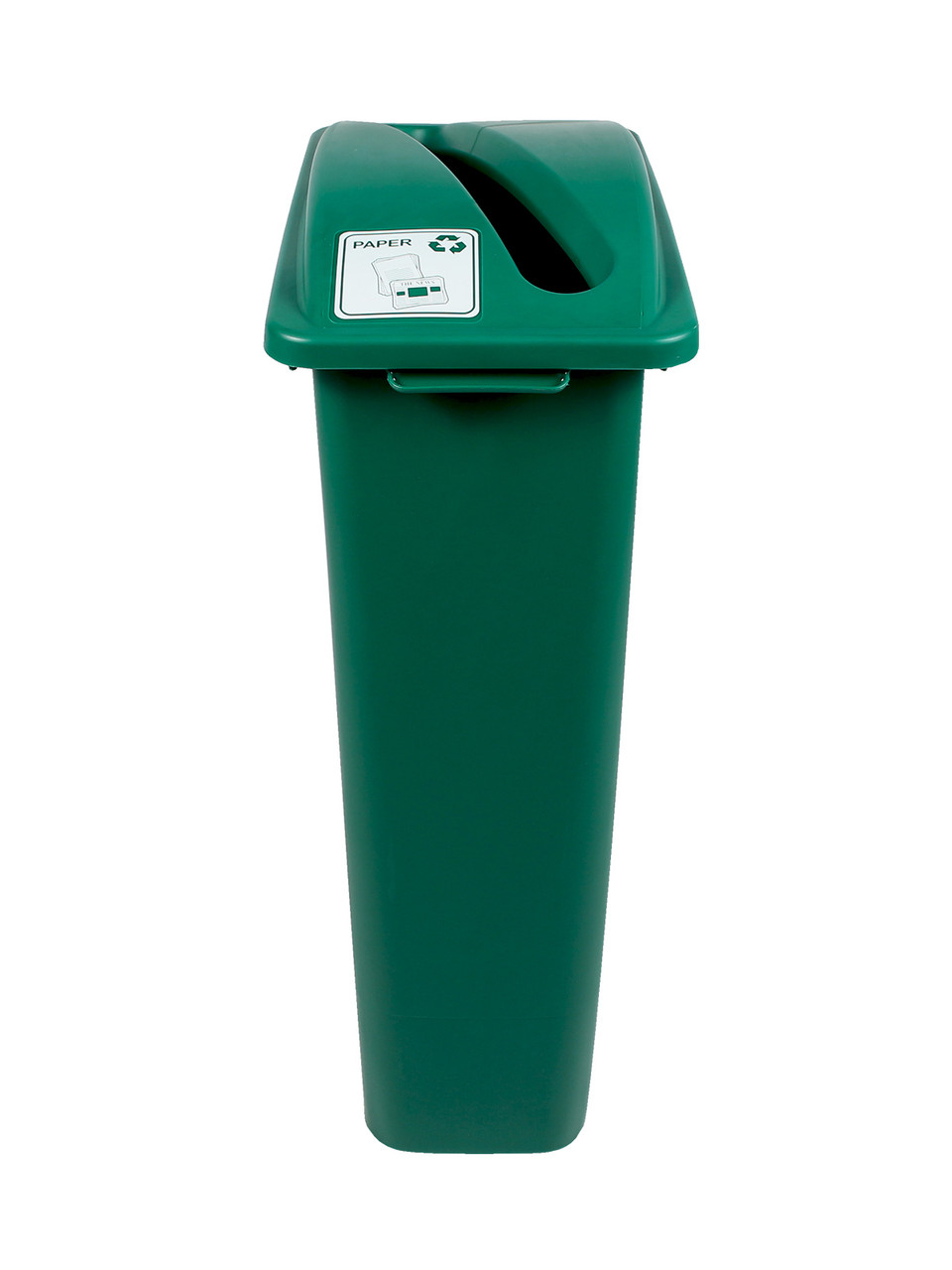23 Gallon Green Skinny Recycle Bin (Paper)