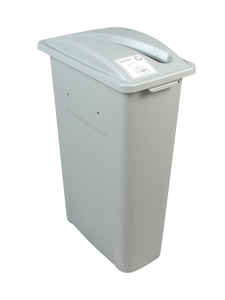 23 Gallon Gray Skinny Simple Sort Recycle Bin (Paper)