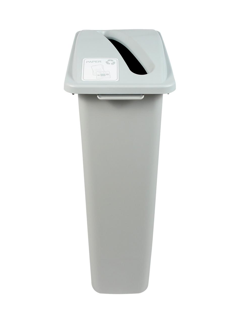 23 Gallon Gray Simple Sort Recycle Bin (Paper)