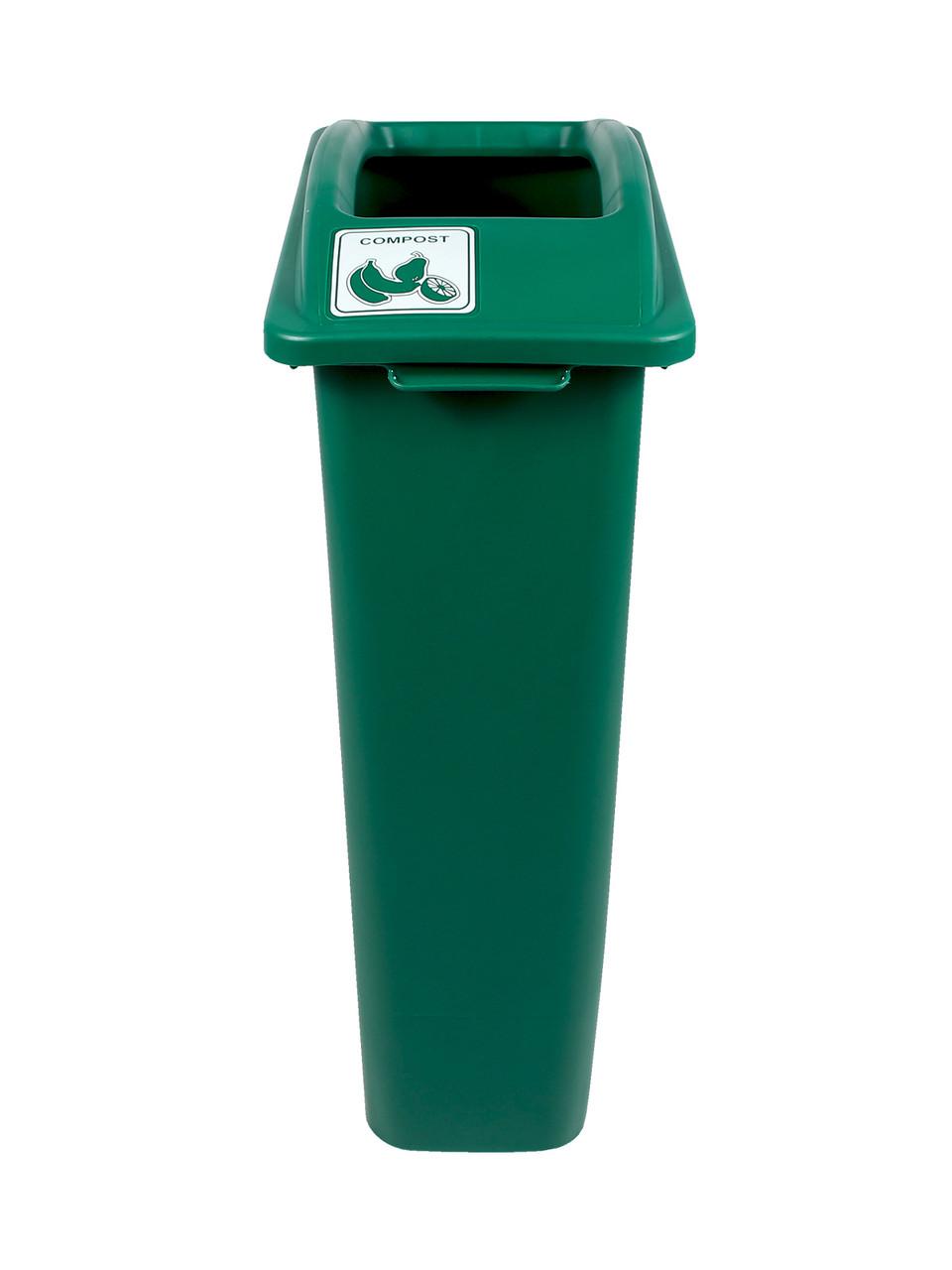 23 Gallon Green Skinny Simple Sort Compost Bin