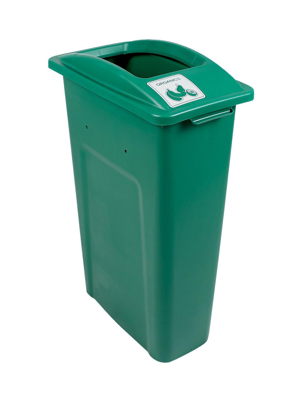 23 Gallon Green Skinny Simple Sort Compost Bin (Organics, Open Top)
