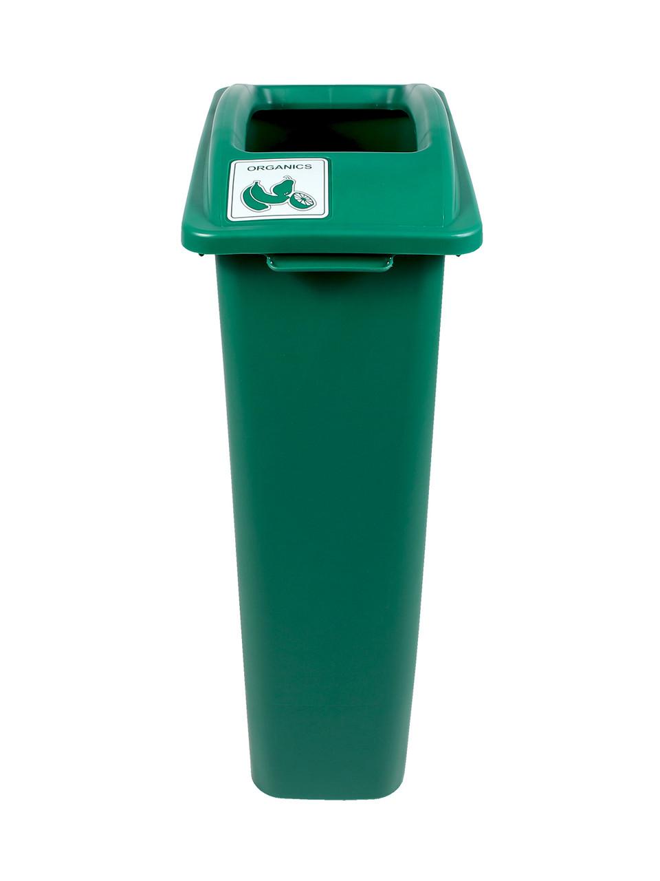 23 Gallon Green Skinny Simple Sort Compost Bin Organics