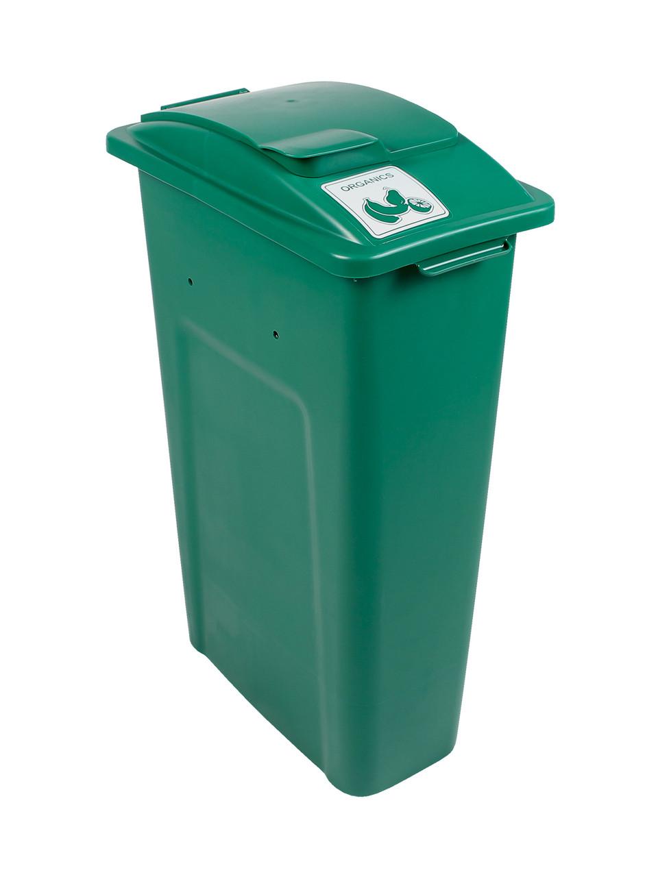 23 Gallon Green Skinny Simple Sort Compost Bin (Organics, Lift Top)