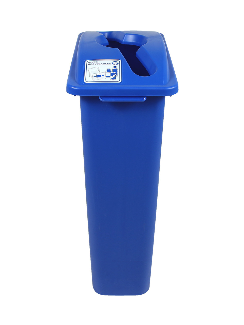 23 Gallon Blue Simple Sort Recycle Bin
