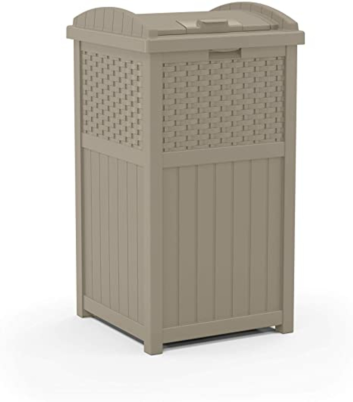 Wicker Dark Taupe Trash Can GHW1732DT for Deck or Patio
