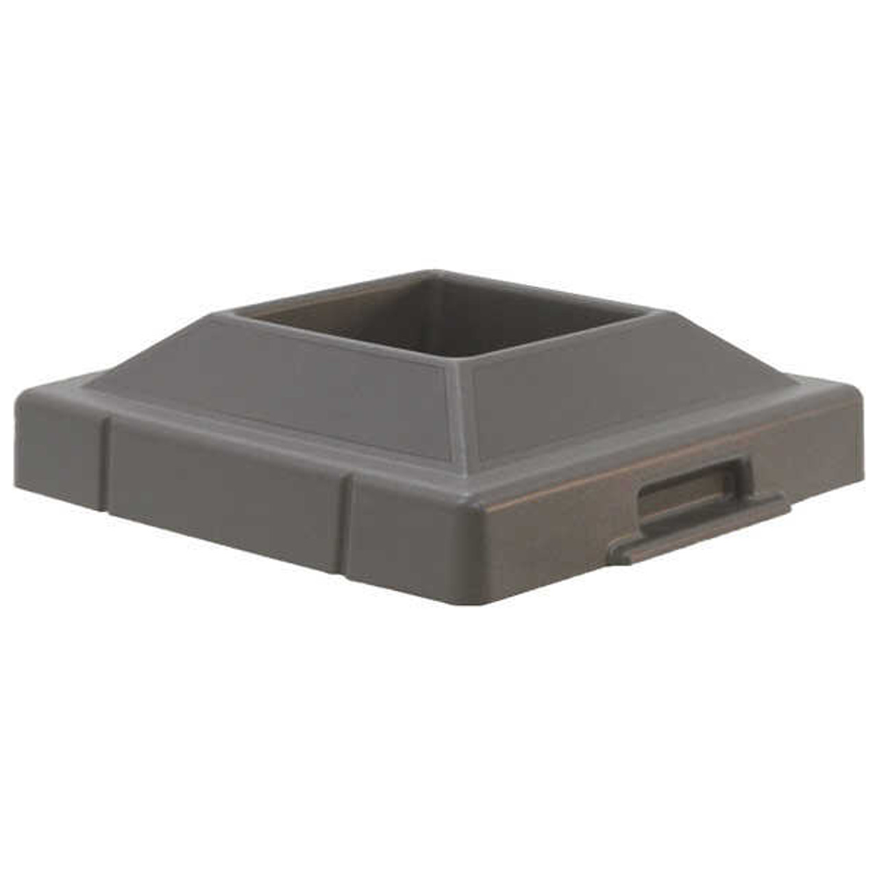 20.5 x 20.5 Pitch In Plastic Lids TF1420 for Square Trash Cans GRAY
