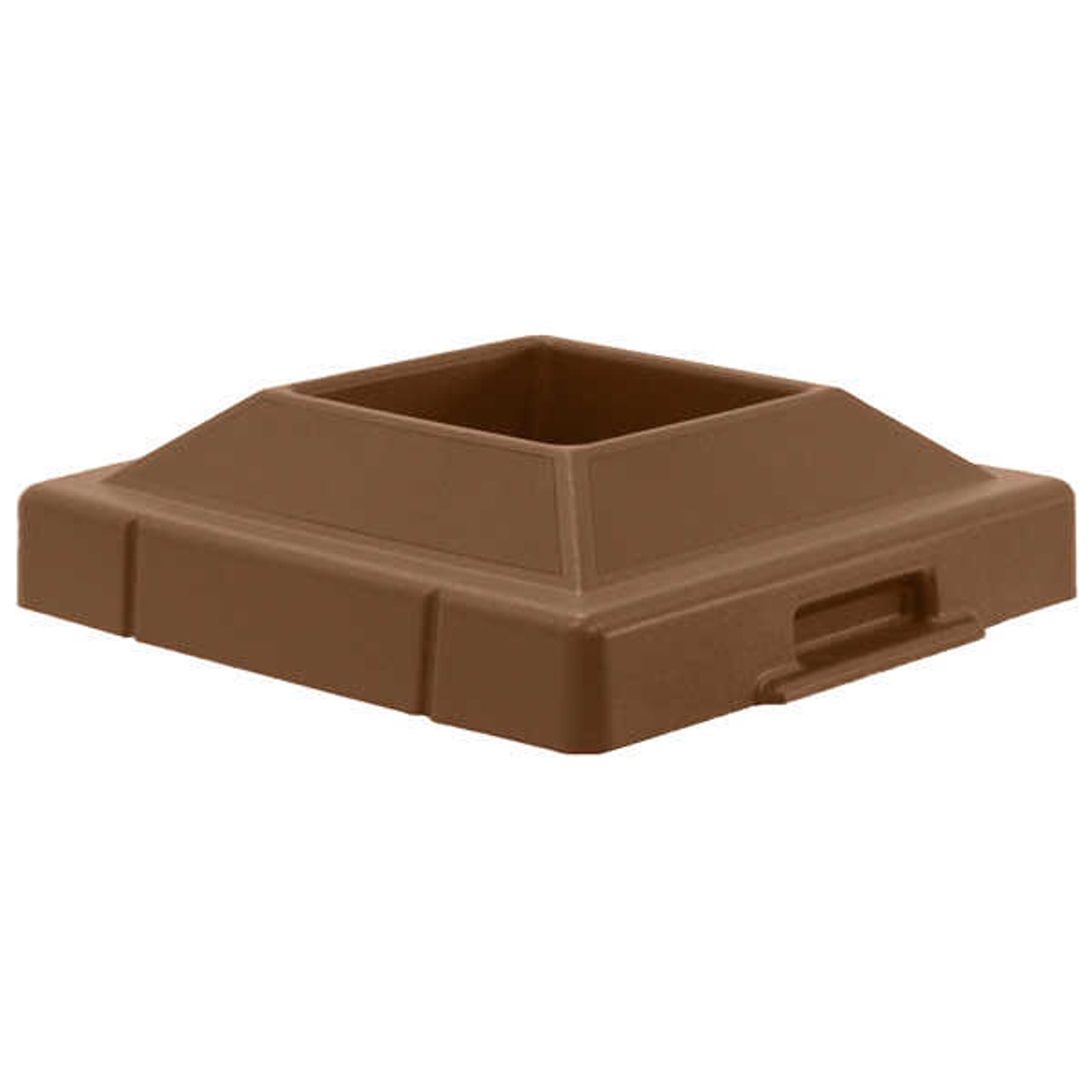 20.5 x 20.5 Pitch In Plastic Lids TF1420 for Square Trash Cans BROWN