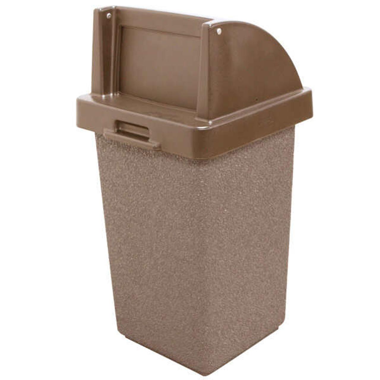 30 Gallon Concrete Push Door Lid Outdoor Trash Can TF1015QS-W22-4