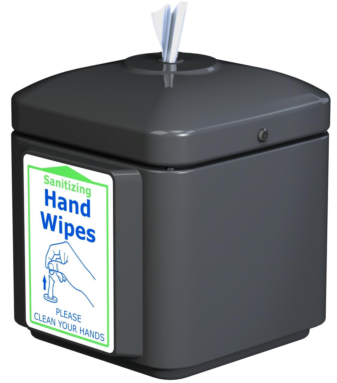 Sanitizing Wipe Dispenser Table Top 8003266 (BLACK, No Wipes)