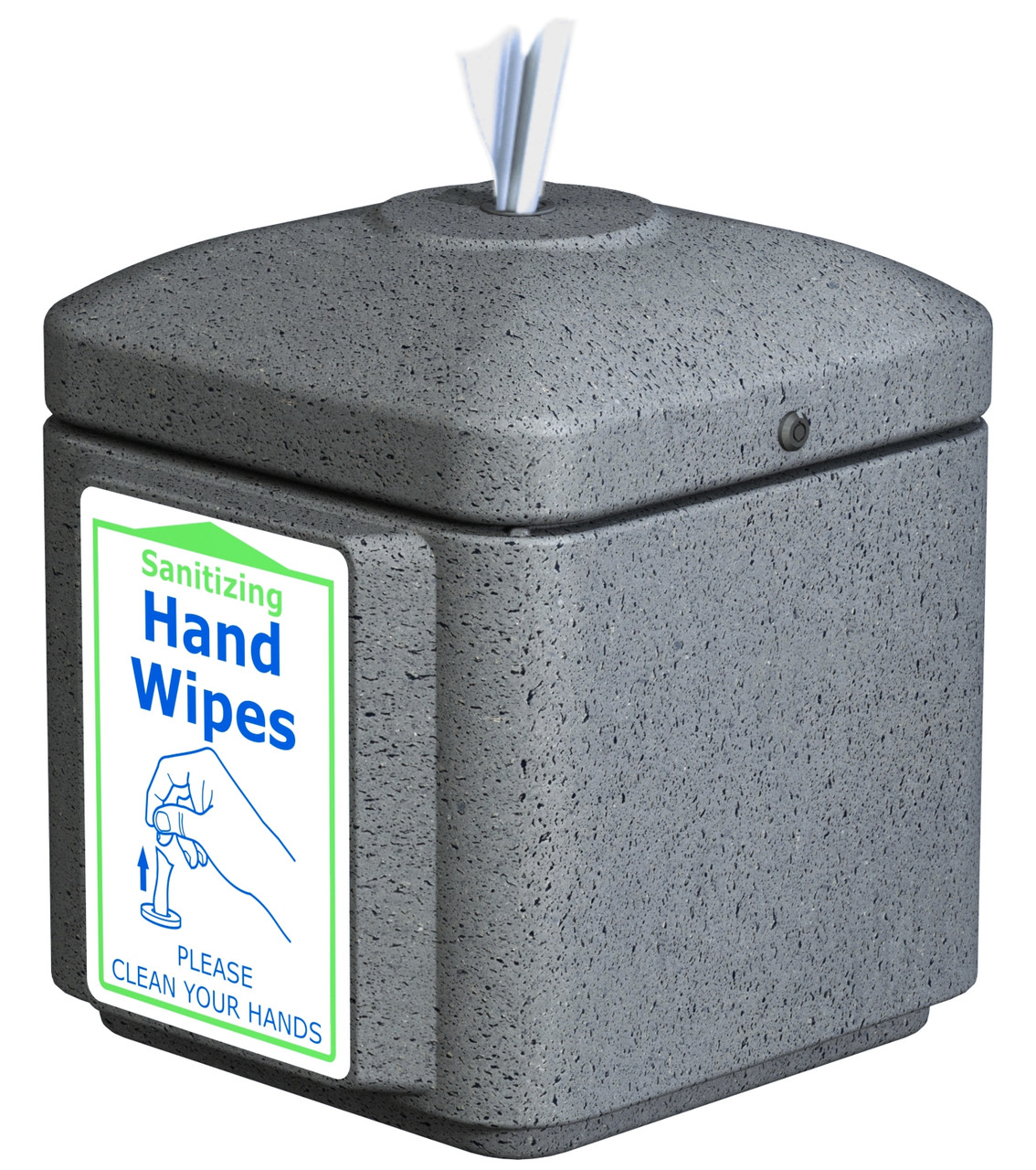Sanitizing Wipe Dispenser Table Top 8002363 (GRAY, With 900 Wipes)