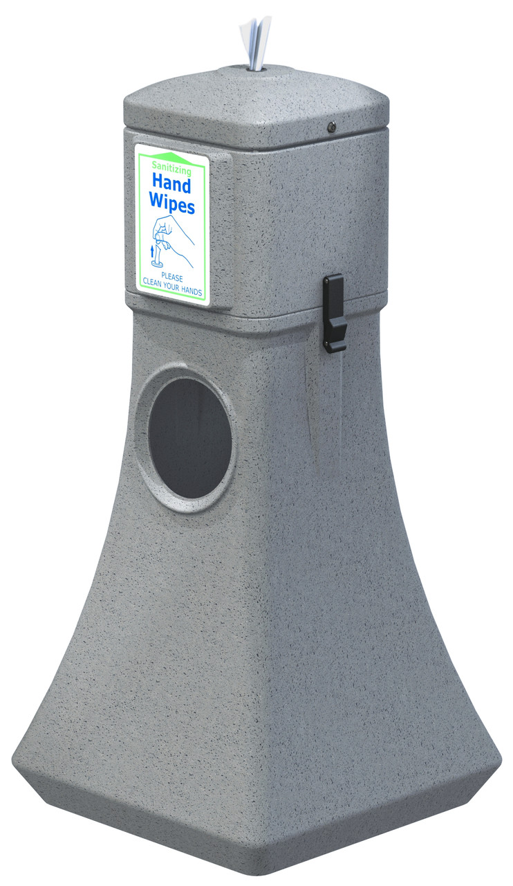 Sanitizing Wipe Dispenser Floor Standing w/Trash Can 8003250 (GRAY, With 900 Wipes)