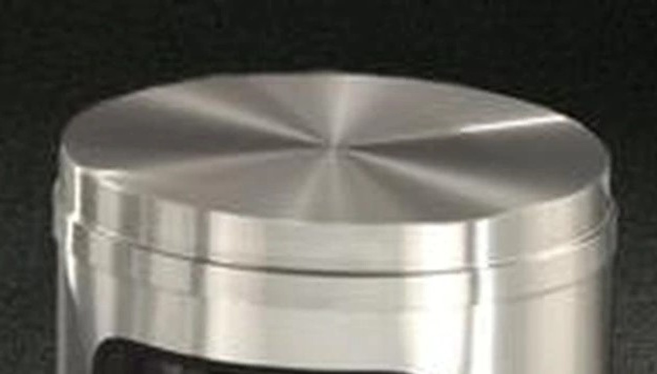 Satin Aluminum Flat Top Lids ONLY for Glaro Decorative Commercial Trash Cans