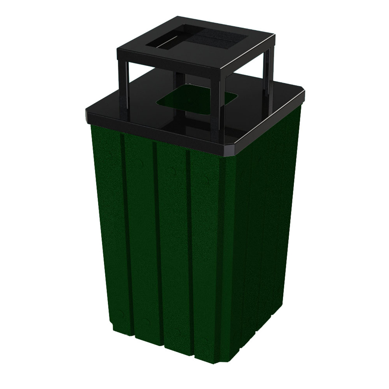 32 Gallon Heavy Duty Green Ash Trash Can with Liner S8295S-00-075