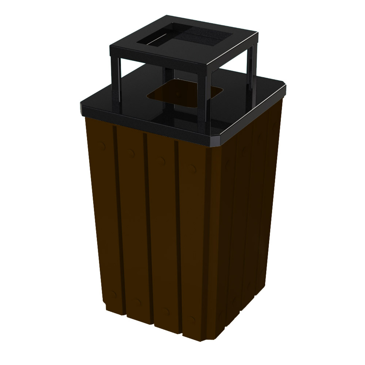 32 Gallon Heavy Duty Brown Ash Trash Can with Liner S8295S-00-073