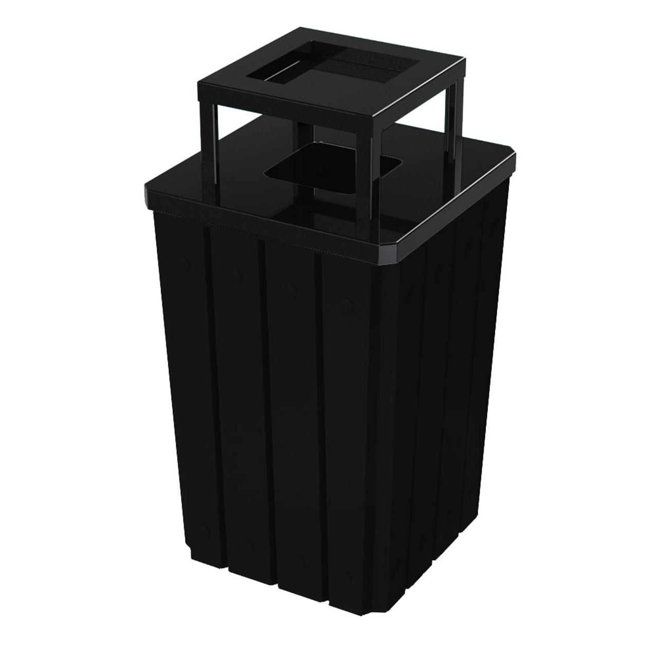 32 Gallon Heavy Duty Black Ash Trash Can with Liner S8295S-00-092