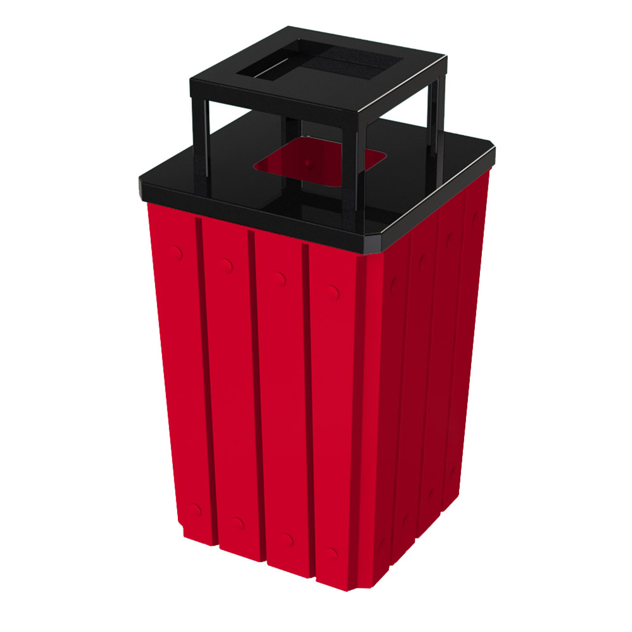 32 Gallon Heavy Duty Red Ash Trash Can with Liner S8295S-00-137