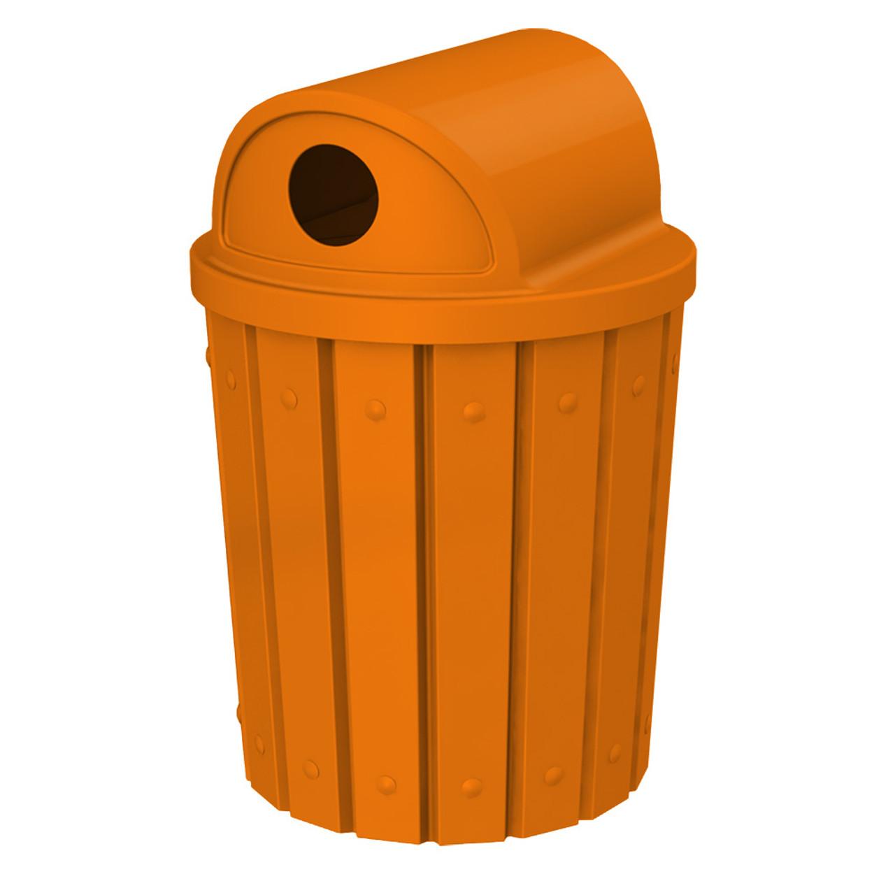 42 Gallon Kolor Can Heavy Duty 2 Way Recycle Lid Park Recycle Bin S8283A-01 ORANGE