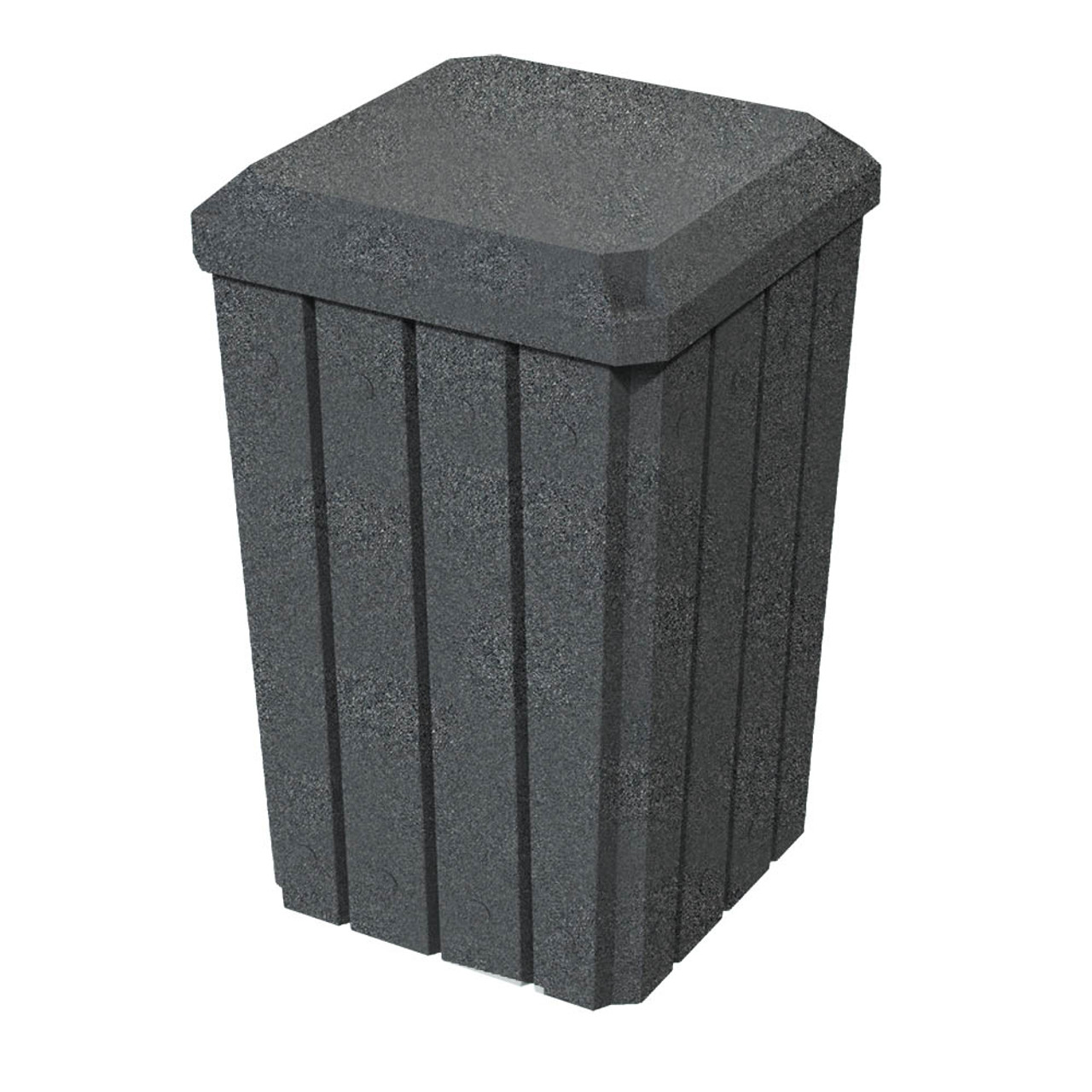 32 Gallon Kolor Can Heavy Duty Dust Cover Enclosed Trash Bin S8292A-00 DARK GRANITE