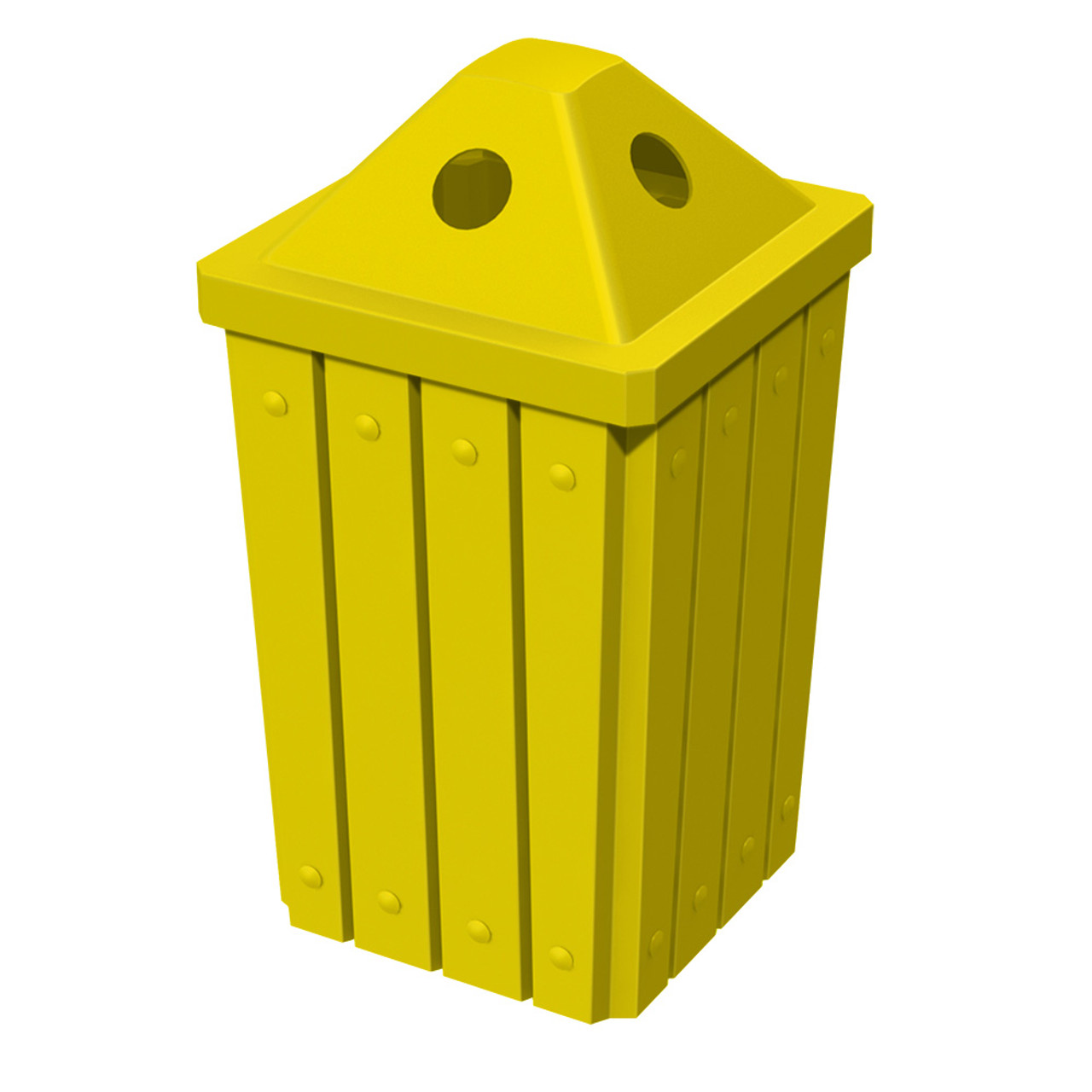 32 Gallon Kolor Can Heavy Duty Pyramid Lid Recycle Bin S8297A-00 YELLOW