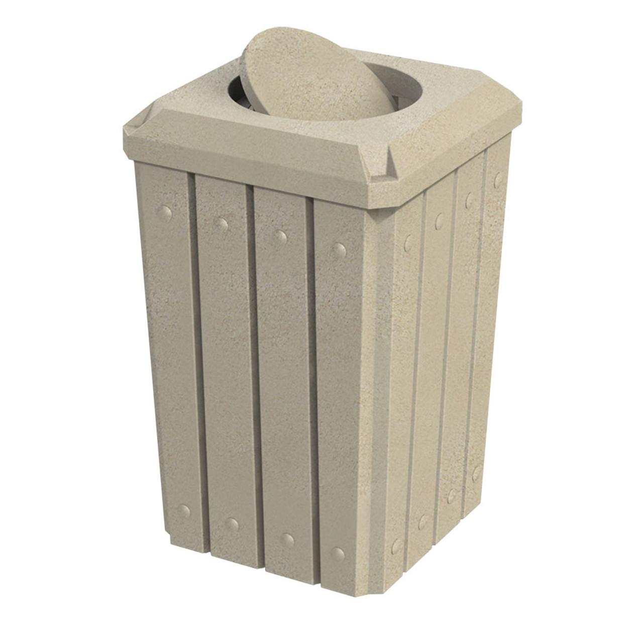 32 Gallon Kolor Can Heavy Duty Bug Barrier Trash Bin S8292A-04 BEIGE GRANITE
