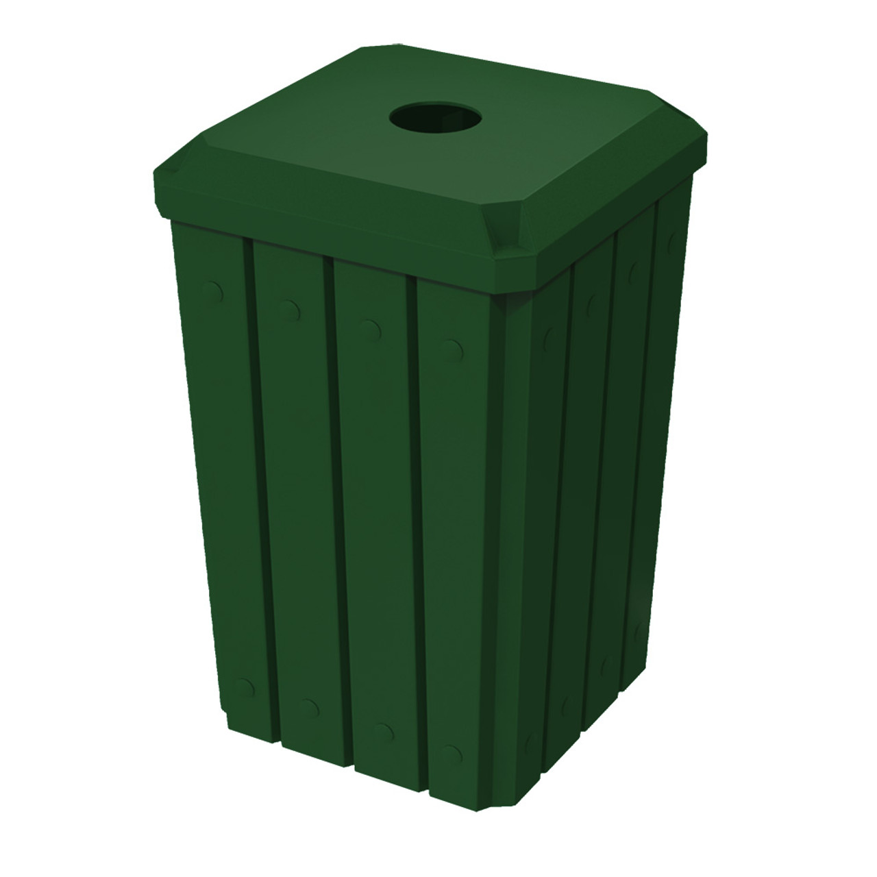 32 Gallon Kolor Can Heavy Duty Bottle and Can Recycle Bin S8292A-01 GREEN