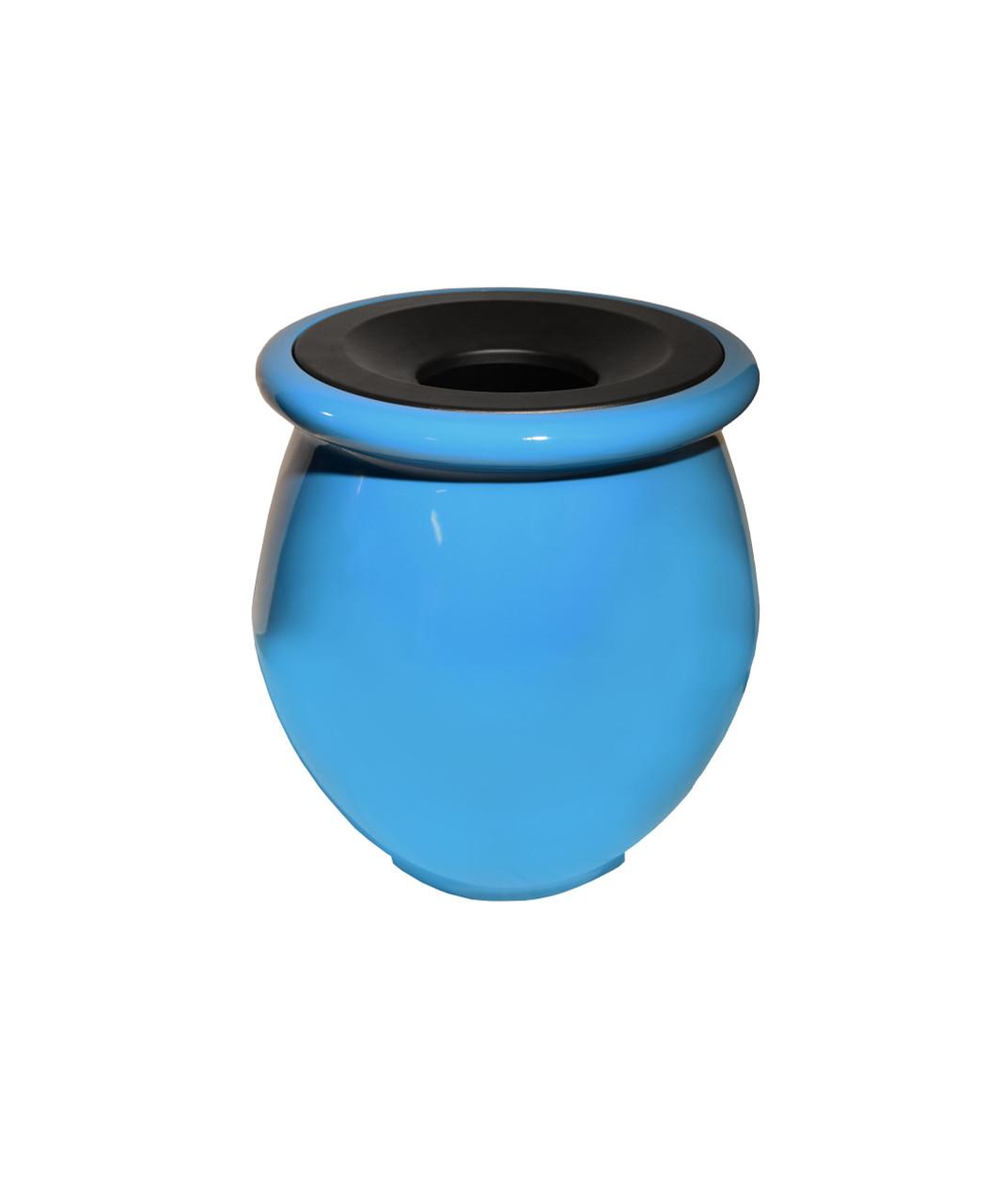 32 Gallon Fiberglass ZINIA Decorative Trash Receptacle