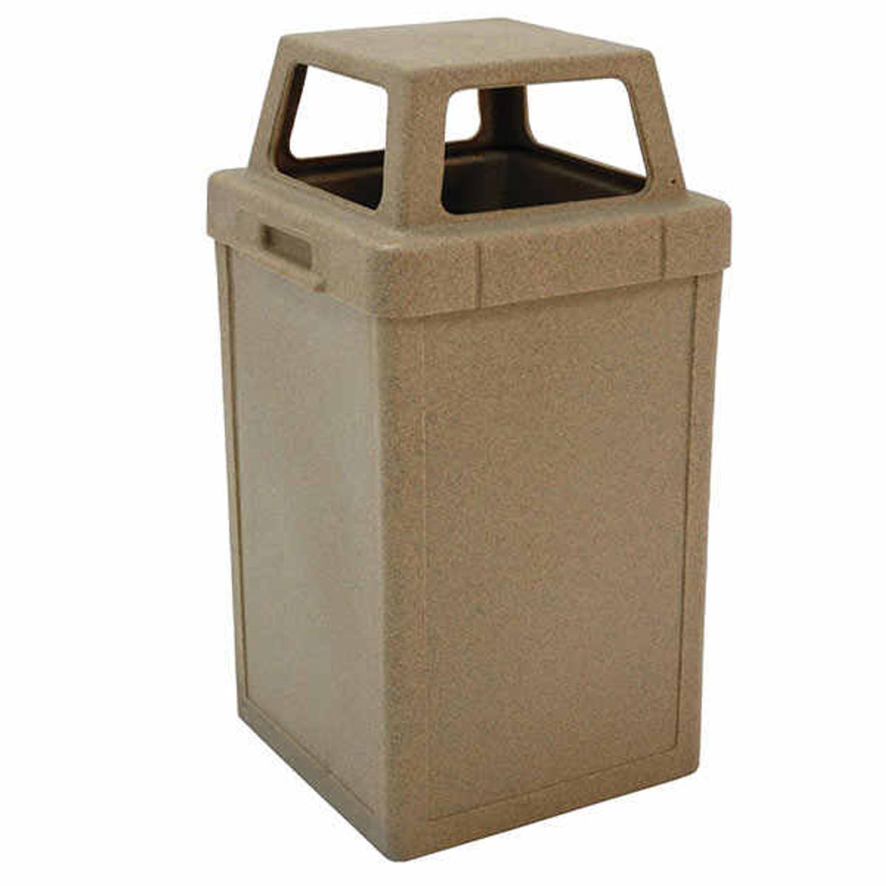 24 Gallon Heavy Duty Plastic Indoor Outdoor Waste Container TF1019